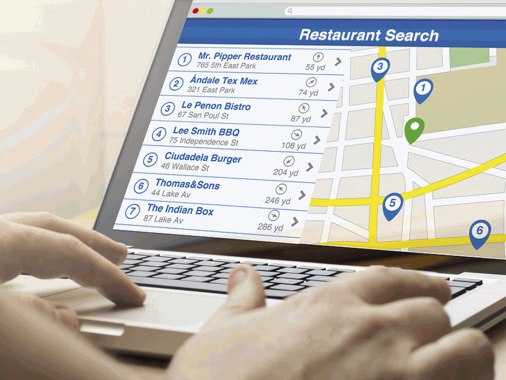 How are people searching online for Restaurants?