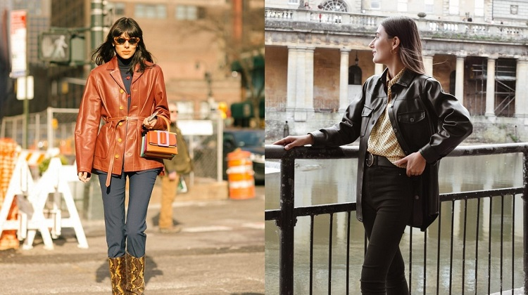 How to Wear a Faux Leather Shacket